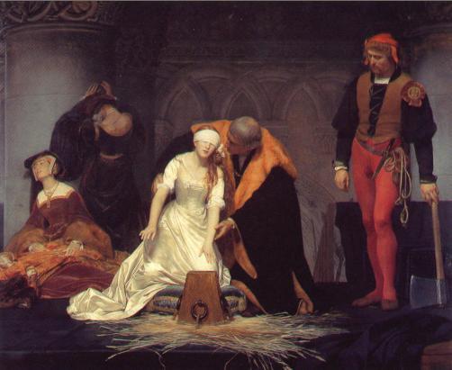 Decapitación de Jane Grey por Delaroche