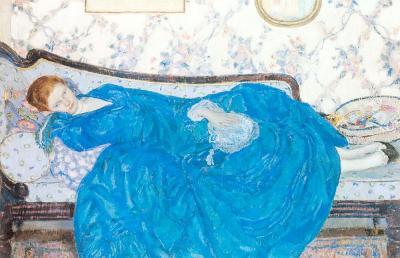 The Blue Gown de Frederick Carl Frieseke
