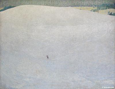 Paisaje de nieve de Cuno Amiet