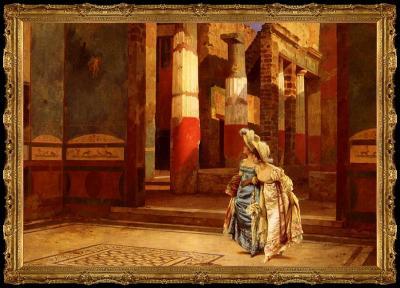 Visita a Pompeya de Luigi Bazzani