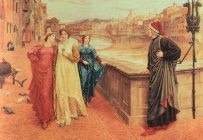 Dante y Beatriz de Henry Holiday