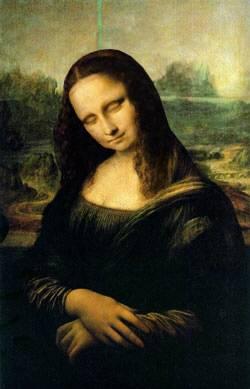 Mona Lisa echando una cabezadita