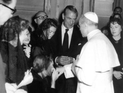 Gary Cooper visita a Pio XII