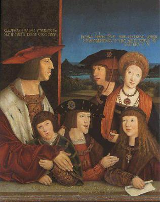 La familia de Maximiliano