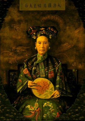 The Portrait of the Qing Dynasty Cixi Imperial Dowager Empress of China in the1900s