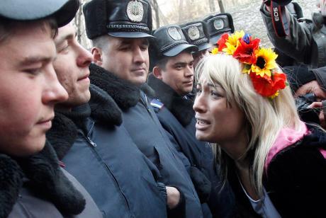 Protesta feminista en Kiev
