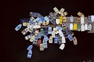 Barcas ancladas