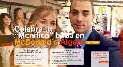 ¿Bodas en McDonald's?