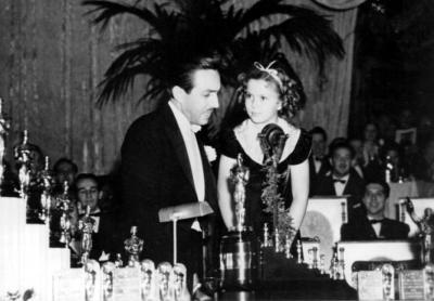 Shirley Temple y Walt Disney
