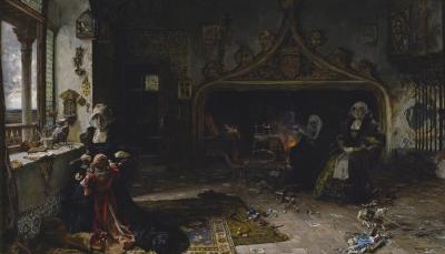 Juana la loca recluida en Tordesillas, de Francisco Pradilla y Ortiz