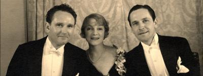 Frank Borzage, Helen Hayes, and Fredric March