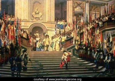 Recepción del Gran Condé por Luis XIV