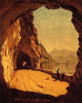 The road to Stelvioby Sanford Robinson Gifford