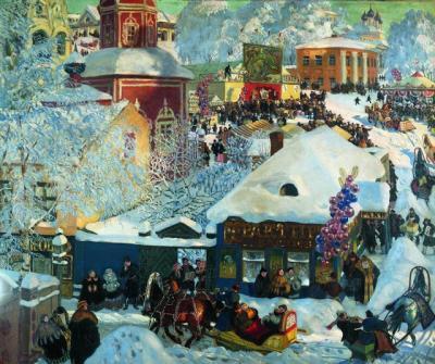 Boris Kustodiev- Invierno