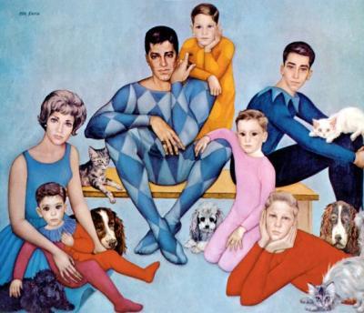 Jerry Lewis y familia